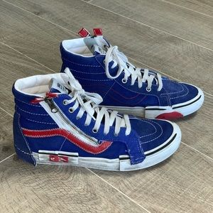 Vans Sk8 Hi Cut & Paste Slate Shoe Blue Red 9.5